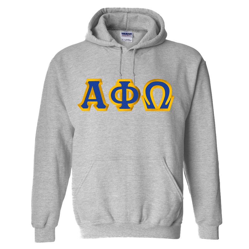 $39.99 Alpha Phi Omega Custom Twill Hooded Sweatshirt