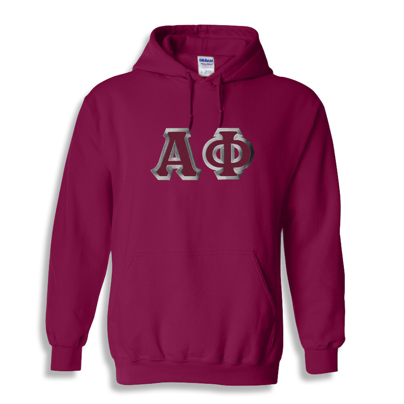 Alpha Phi Custom Twill Hooded Sweatshirt
