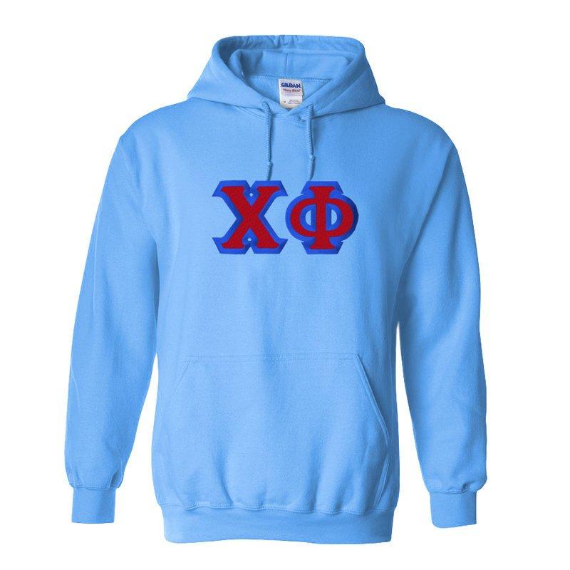 Chi Phi Custom Twill Hooded Sweatshirt