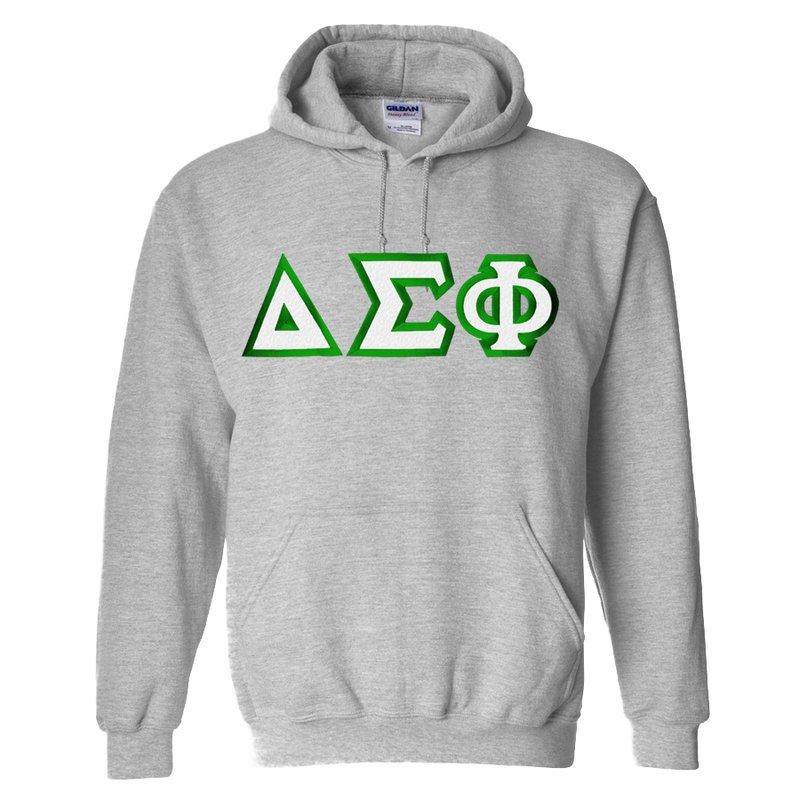 Delta Sigma Phi Custom Twill Hooded Sweatshirt