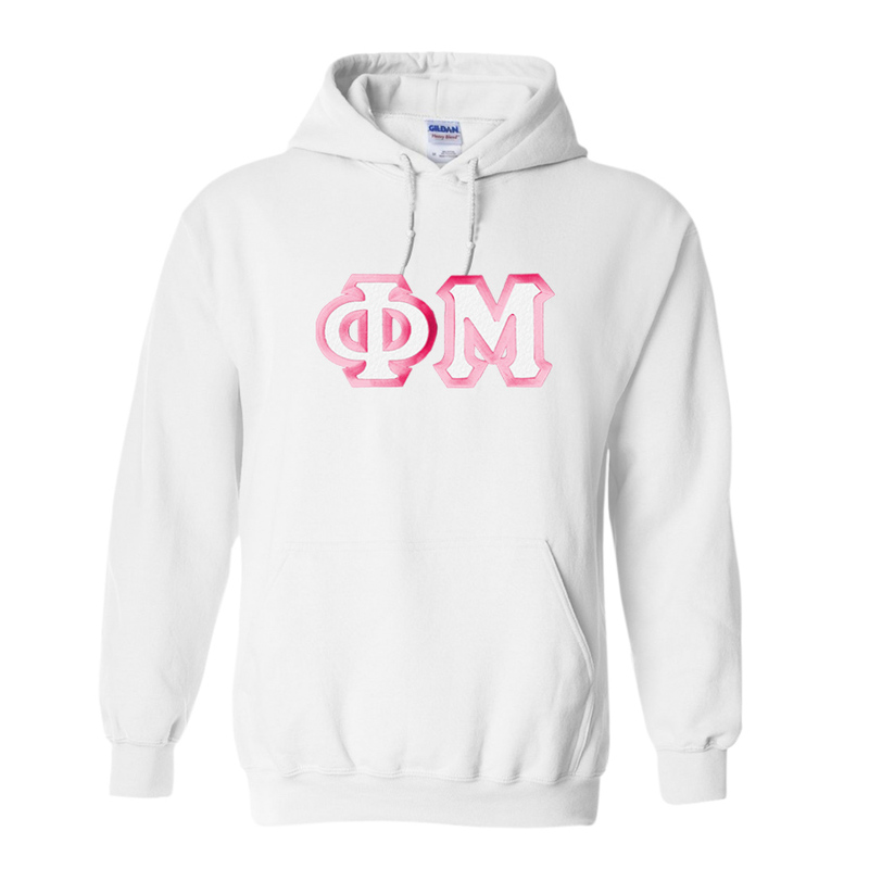 Phi Mu Custom Twill Hooded Sweatshirt