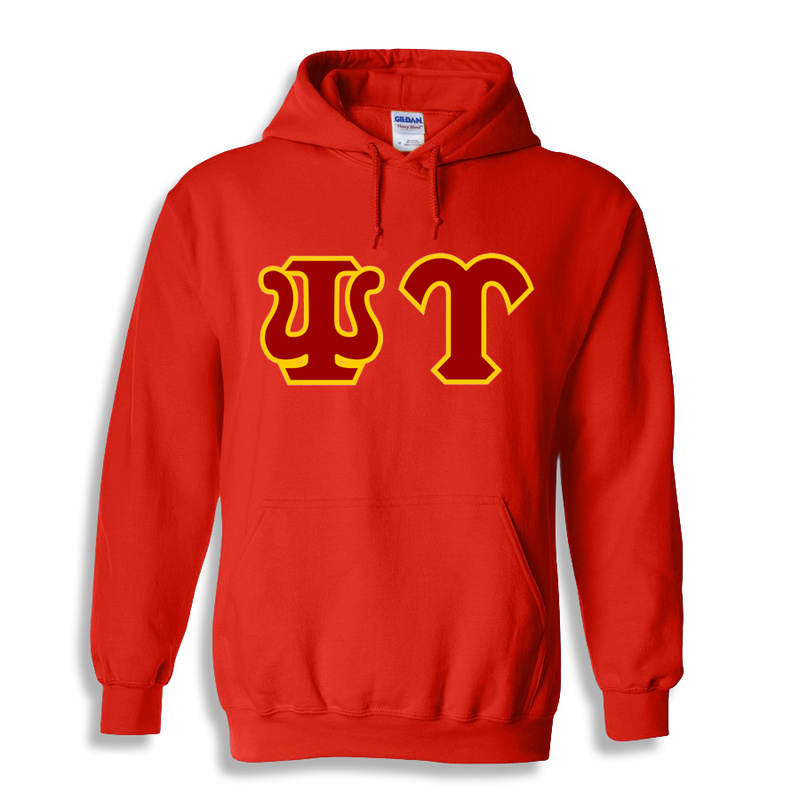Psi Upsilon Custom Twill Hooded Sweatshirt