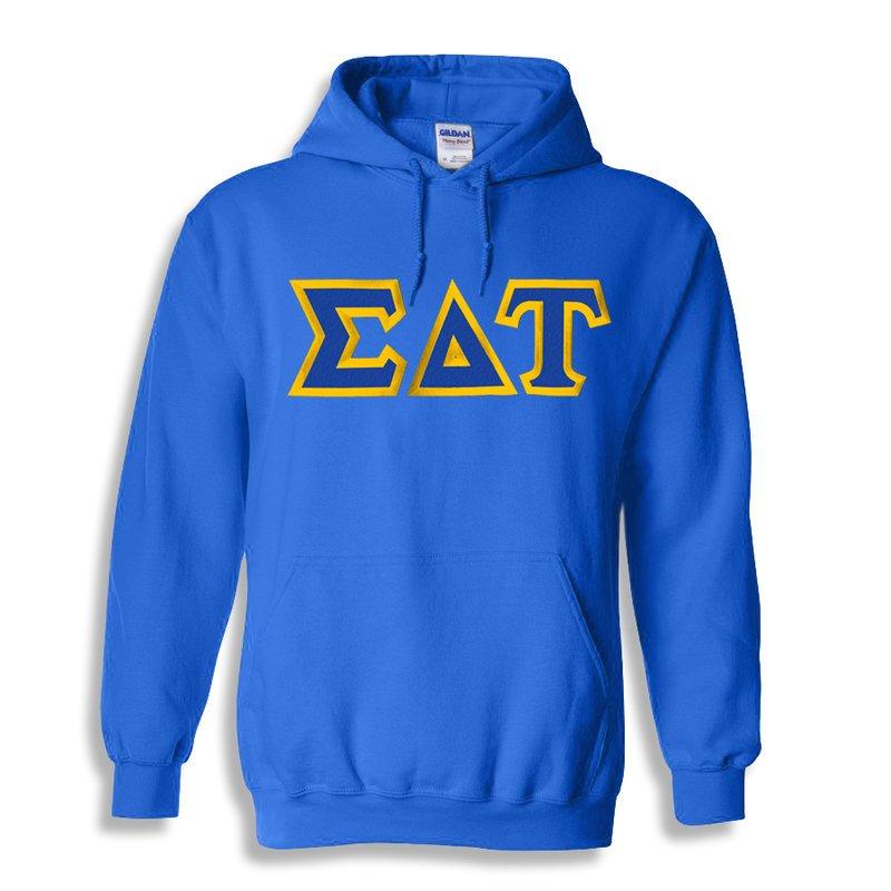 Sigma Delta Tau Custom Twill Hooded Sweatshirt
