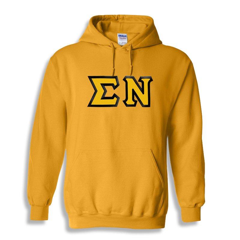 Sigma Nu Custom Twill Hooded Sweatshirt