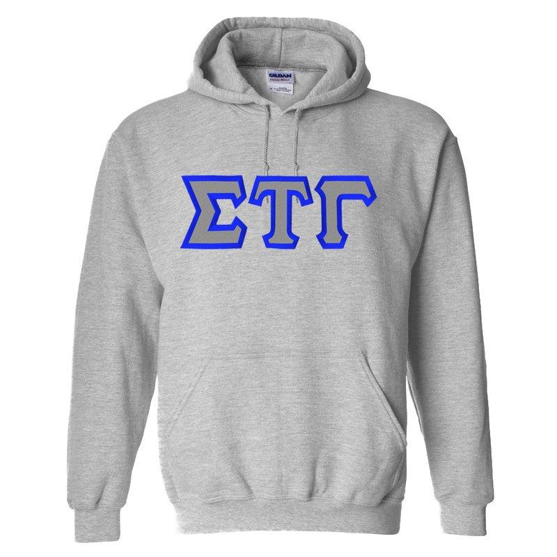 Sigma Tau Gamma Custom Twill Hooded Sweatshirt