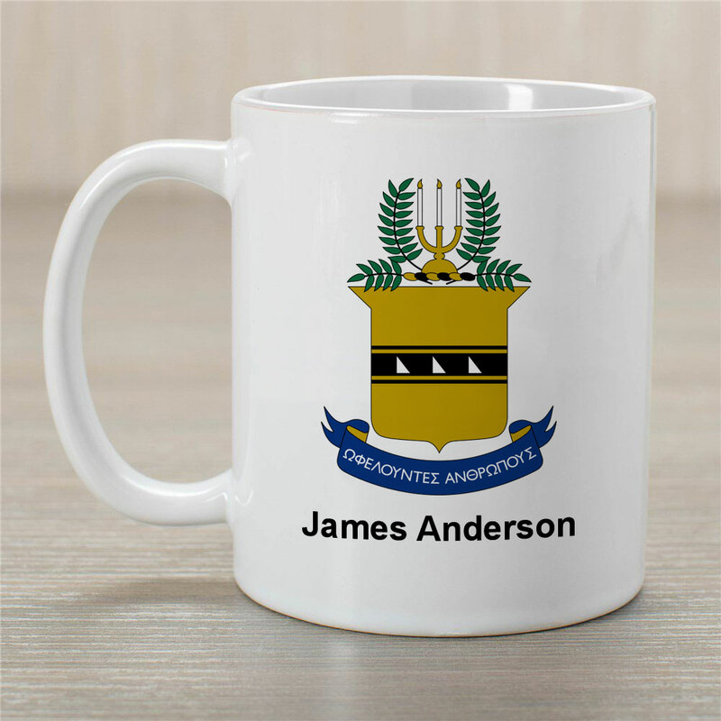 ACACIA Greek Crest Coffee Mug - Personalized!