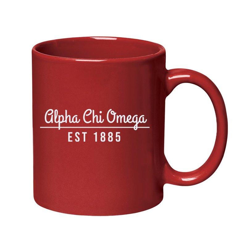 Alpha Chi Omega 11 oz. Colored Stoneware Mug