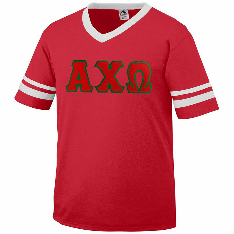 DISCOUNT-Alpha Chi Omega Jersey With Greek Applique Letters