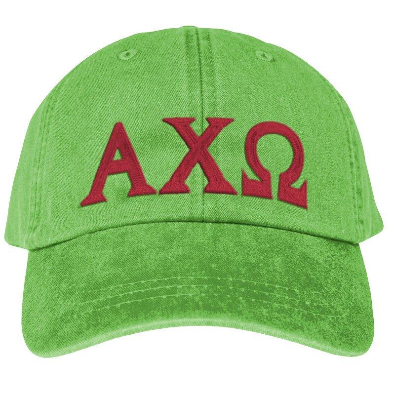 Alpha Chi Omega Lettered Premium Pastel Hat