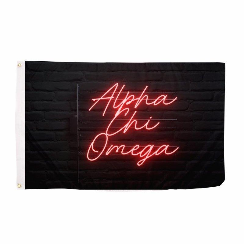 Alpha Chi Omega Neon Flag