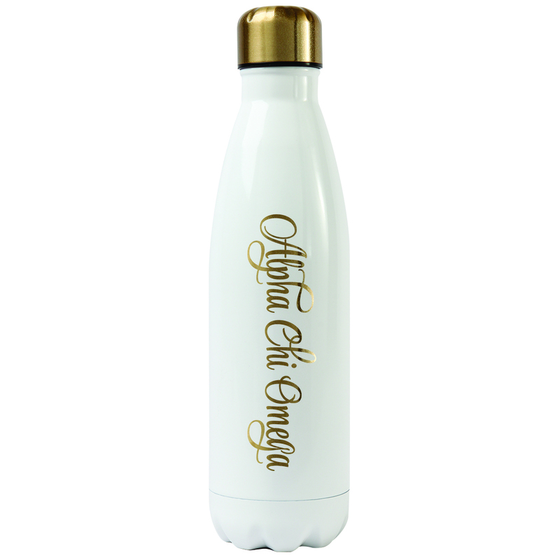 Alpha Chi Omega Stainless Steel Shimmer Water Bottles
