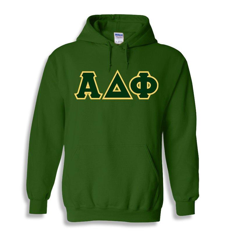 Alpha Delta Phi Lettered Hooded Sweatshirts
