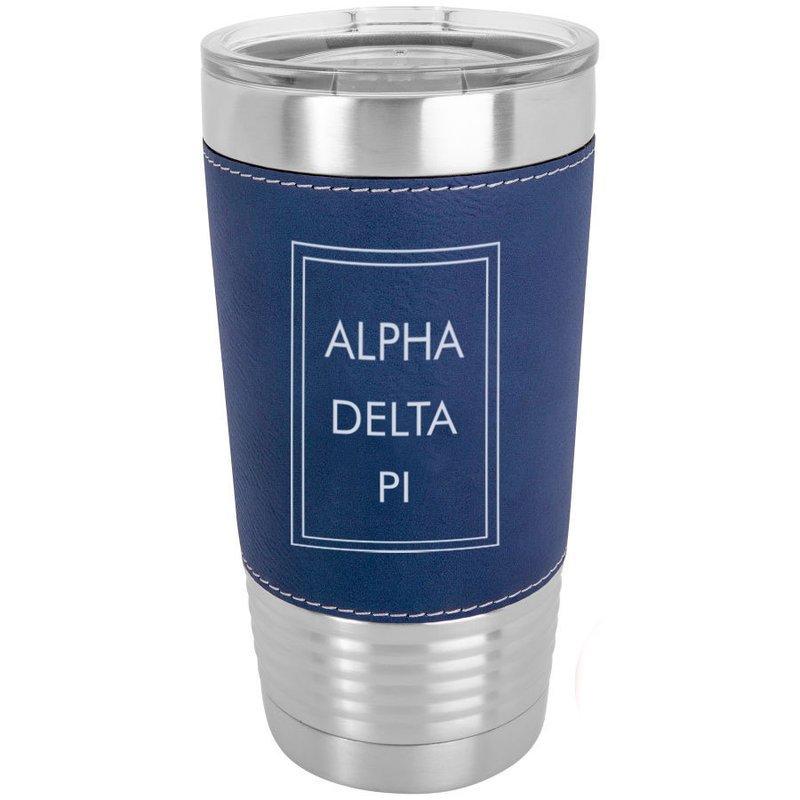 Alpha Delta Pi Sorority Leatherette Polar Camel Tumbler