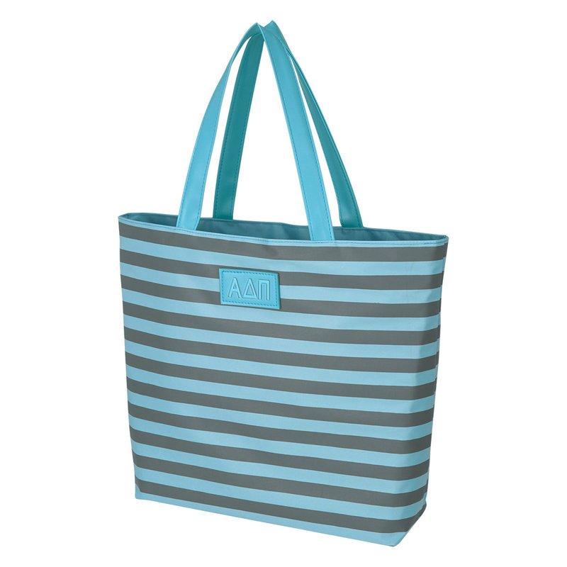Alpha Delta Pi Stripes Tote Bag