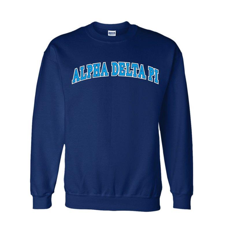 Alpha Delta Pi Super Saver Letterman Crewneck