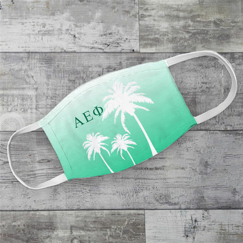 Alpha Epsilon Phi Palm Trees Face Mask