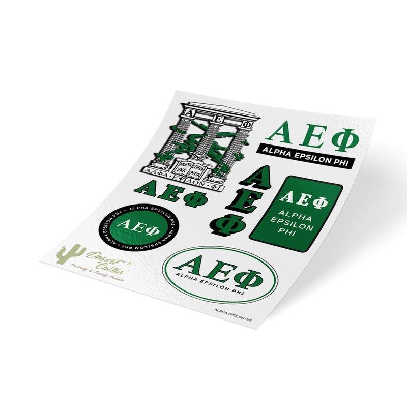 Alpha Epsilon Phi Traditional Sticker Sheet
