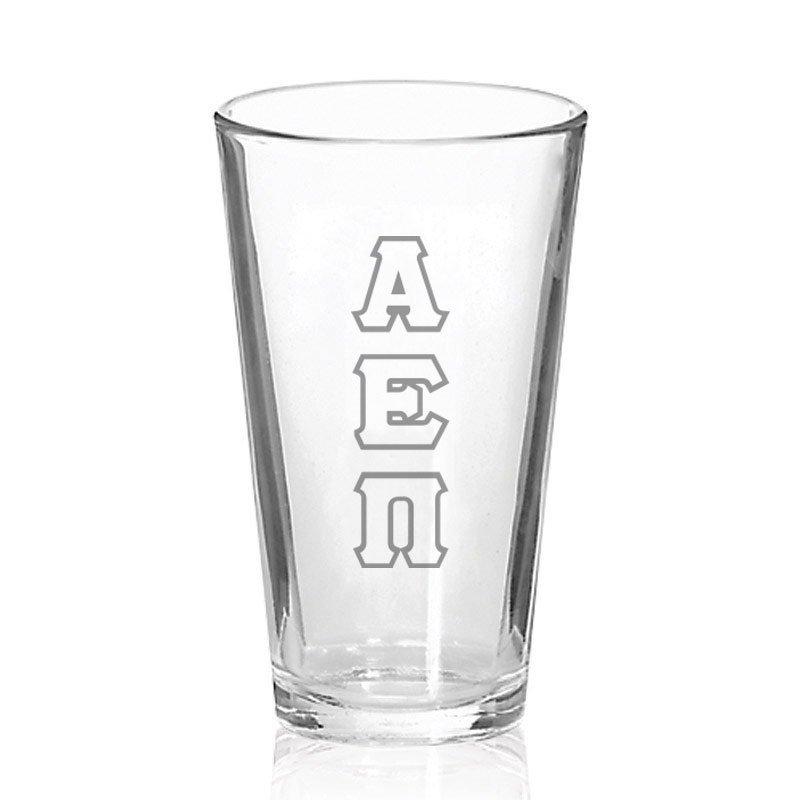 Alpha Epsilon Pi Big Letter Mixing Glass