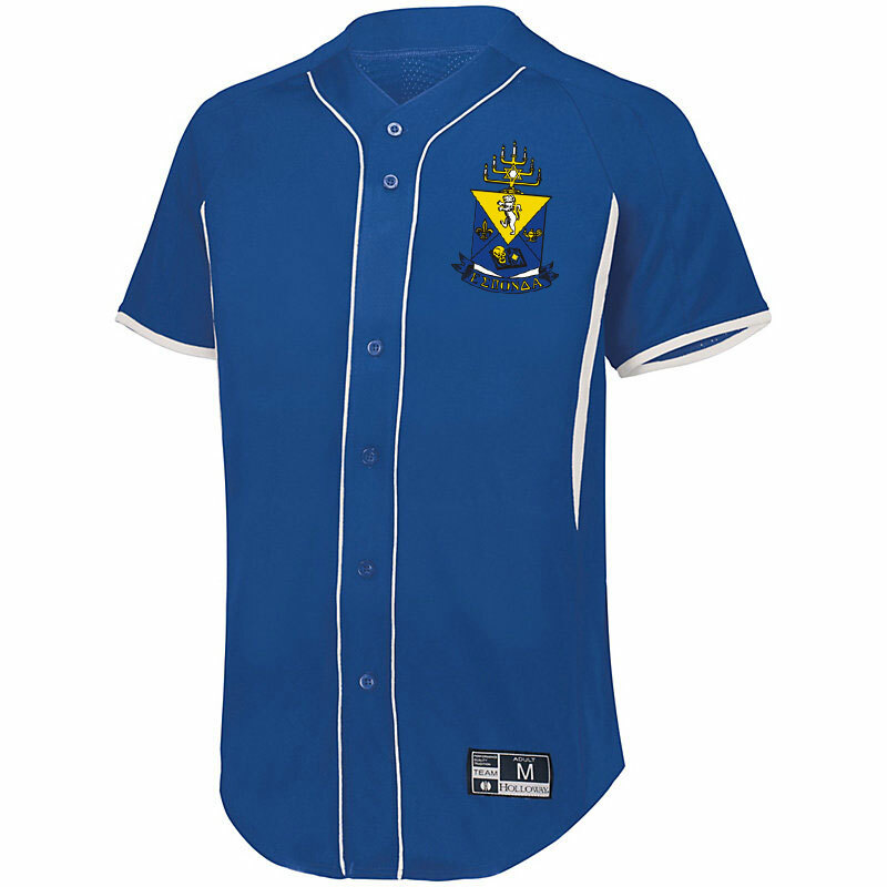 Alpha Epsilon Pi Game 7 Full-Button Baseball Jersey