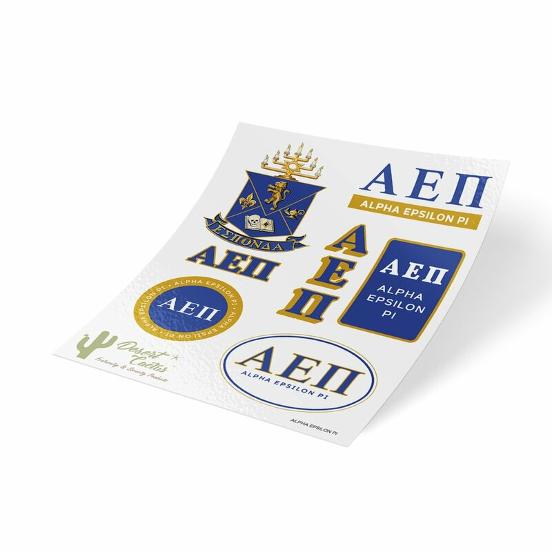 Alpha Epsilon Pi Traditional Sticker Sheet