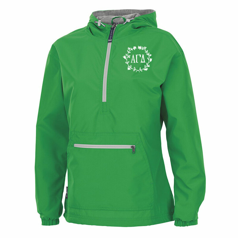 Alpha Gamma Delta Chatham Anorak Solid Pullover