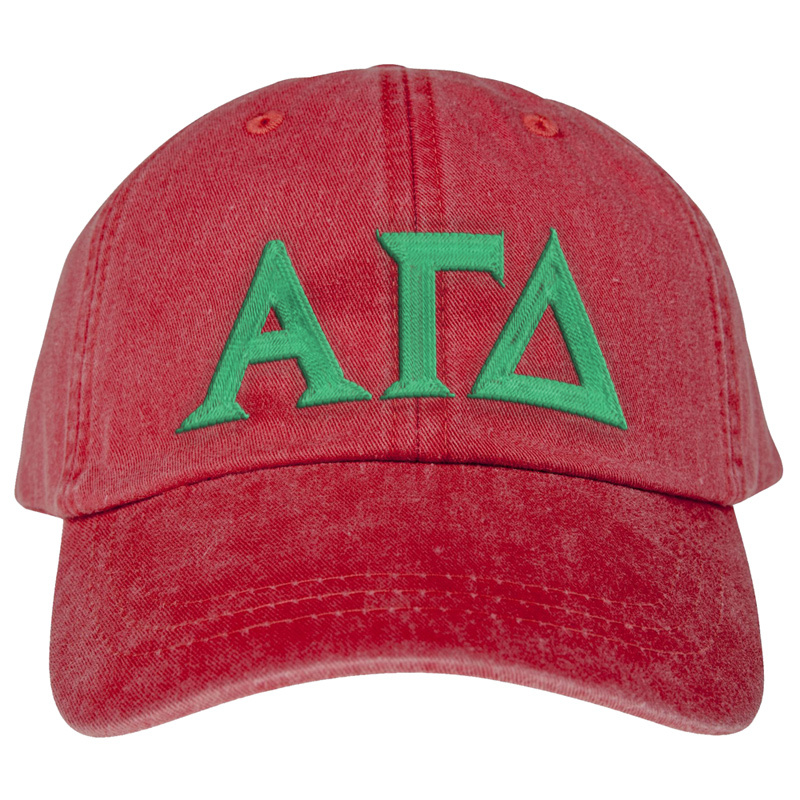 Alpha Gamma Delta Lettered Premium Pastel Hat