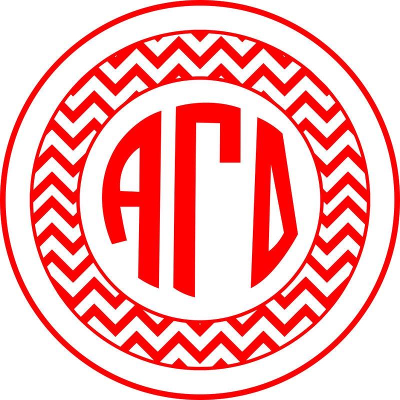 Alpha Gamma Delta Sorority Monogram Bumper Sticker
