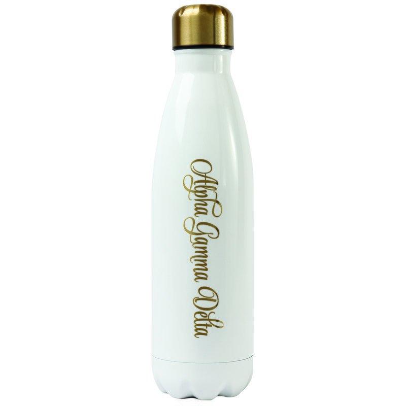 Alpha Gamma Delta Stainless Steel Shimmer Water Bottles