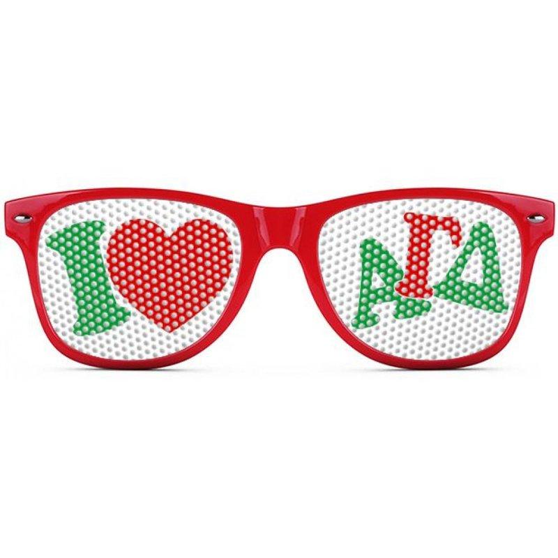 Alpha Gamma Delta Wayfarer Style Lens Sunglasses