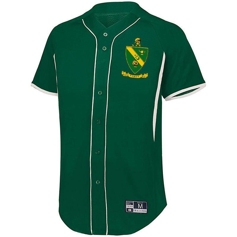 Alpha Gamma Rho Game 7 Full-Button Baseball Jersey