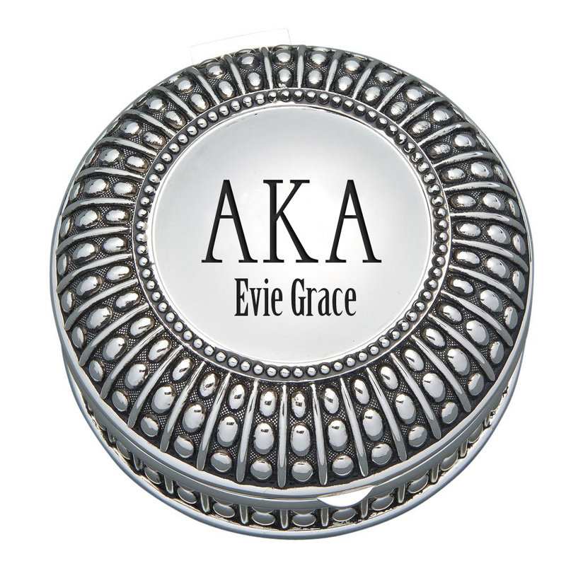 Alpha Kappa Alpha Antique Beaded Pin Box