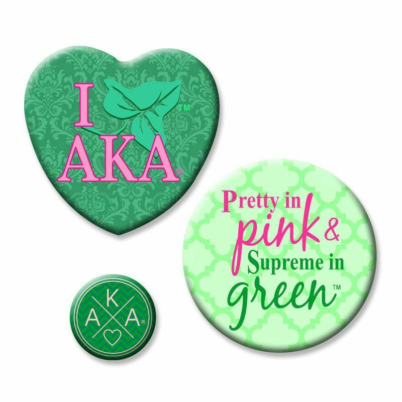 BULK DEAL - Alpha Kappa Alpha Button Set (Set of 10)