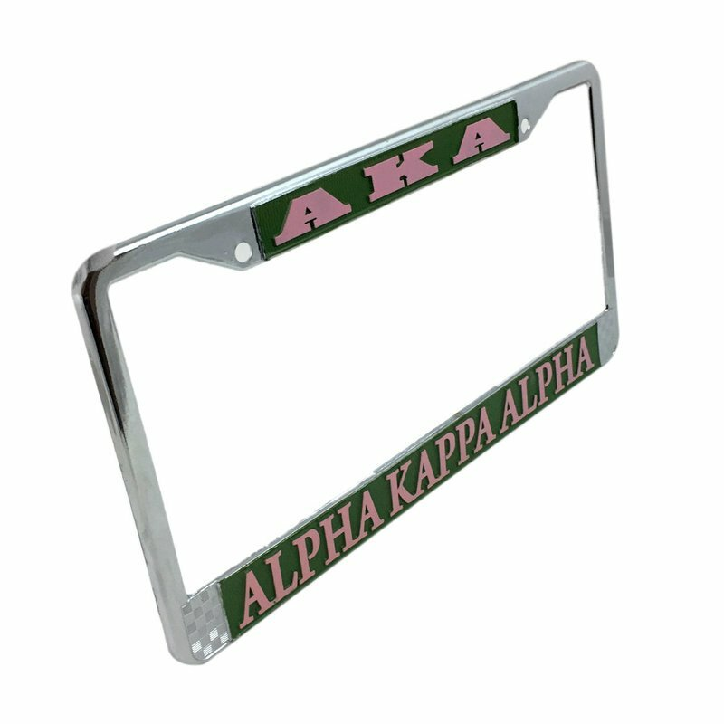 Alpha Kappa Alpha Metal License Plate Frame - FREE GROUND SHIPPING