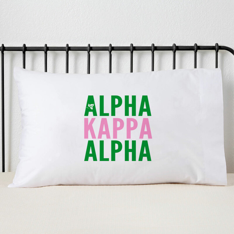 Alpha Kappa Alpha Name Stack Pillow Cover