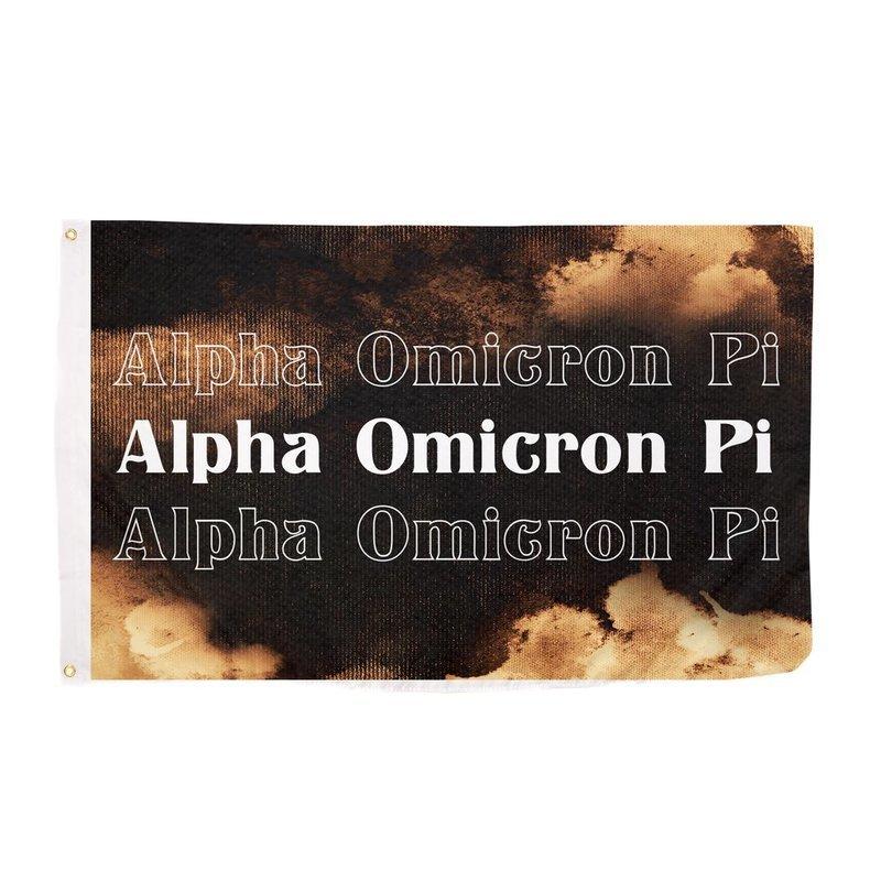 Alpha Omicron Pi Bleach Wash Flag