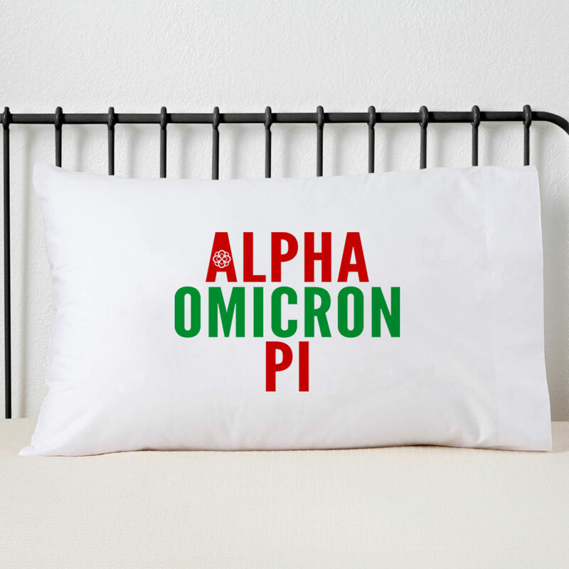 Alpha Omicron Pi Name Stack Pillow Cover