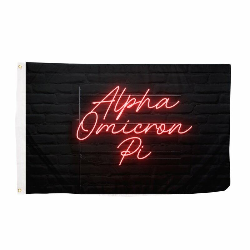 Alpha Omicron Pi Neon Flag