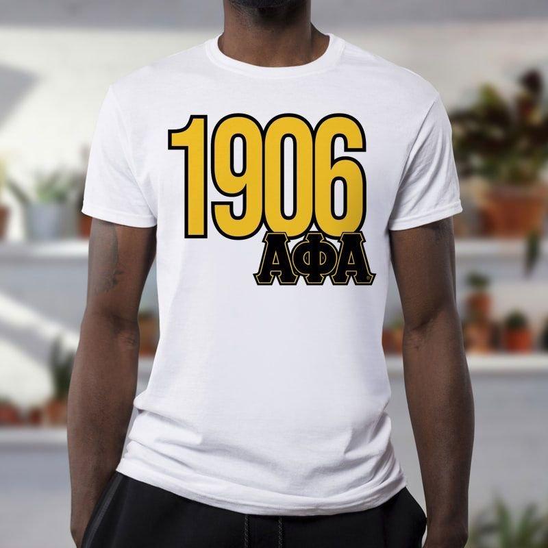 Alpha Phi Alpha Greek Established Year Tee