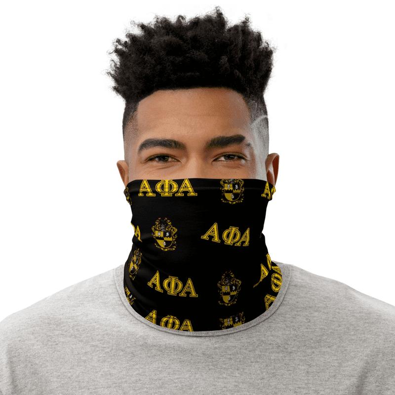 Alpha Phi Alpha Neck Gaiters - Black & Gold