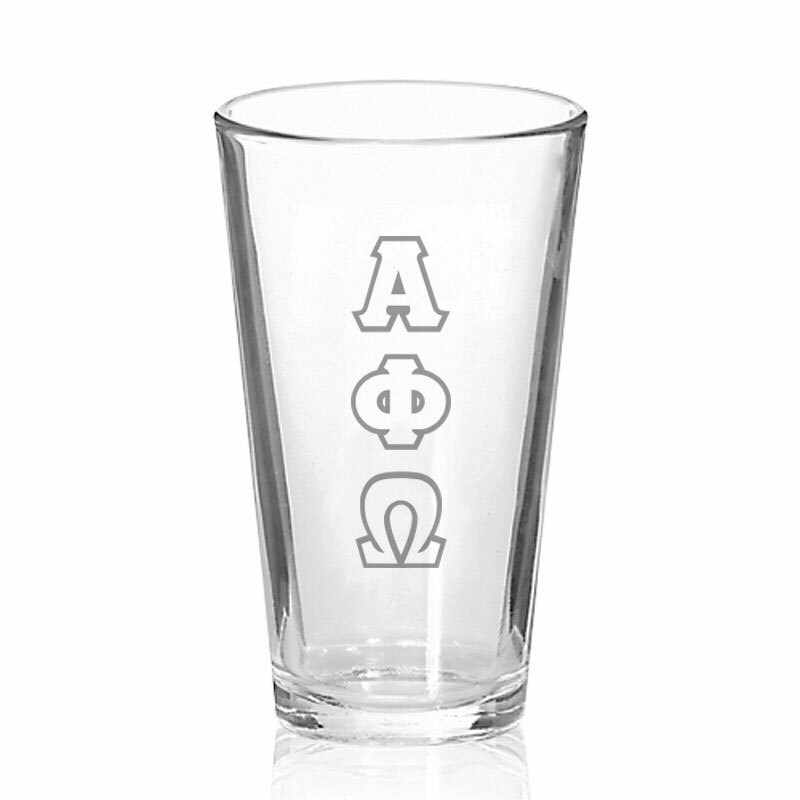 Alpha Phi Omega Big Letter Mixing Glass