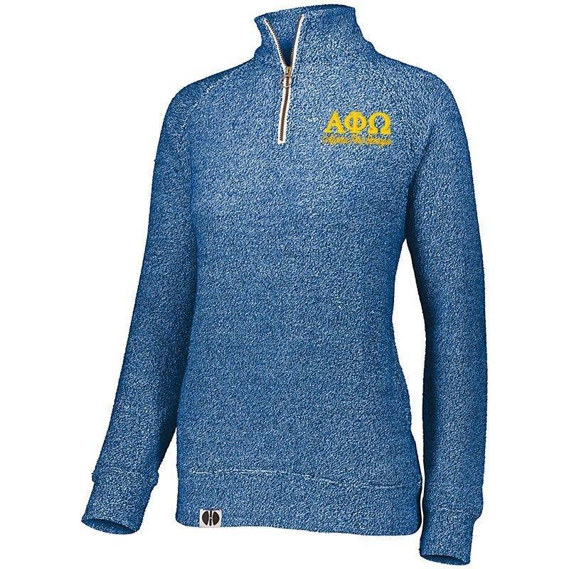 Alpha Phi Omega Cuddly 1/4 Zip Pullover