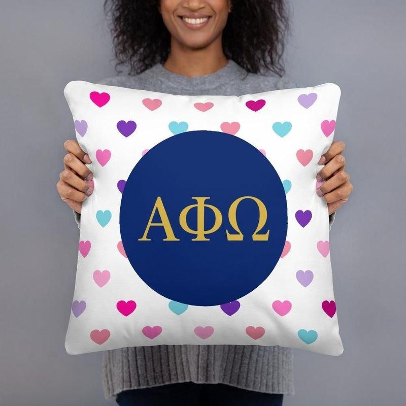 Alpha Phi Omega Hearts Pillow
