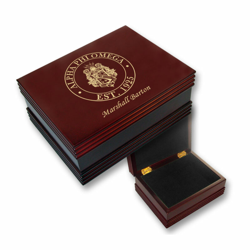 Alpha Phi Omega Keepsake Box