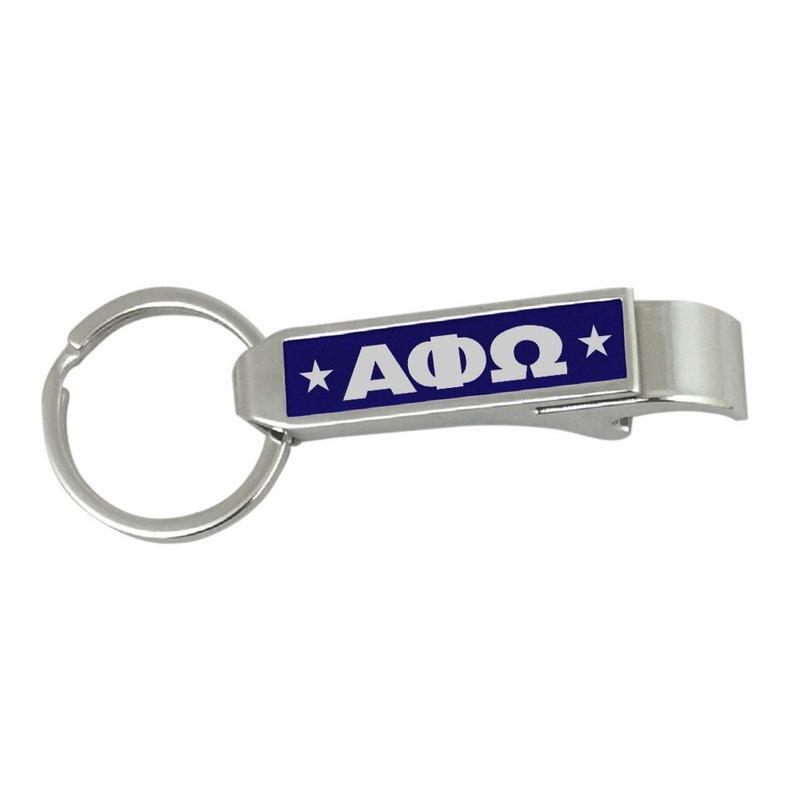 Alpha Phi Omega Stainless Steel Bottle Opener Key Chain
