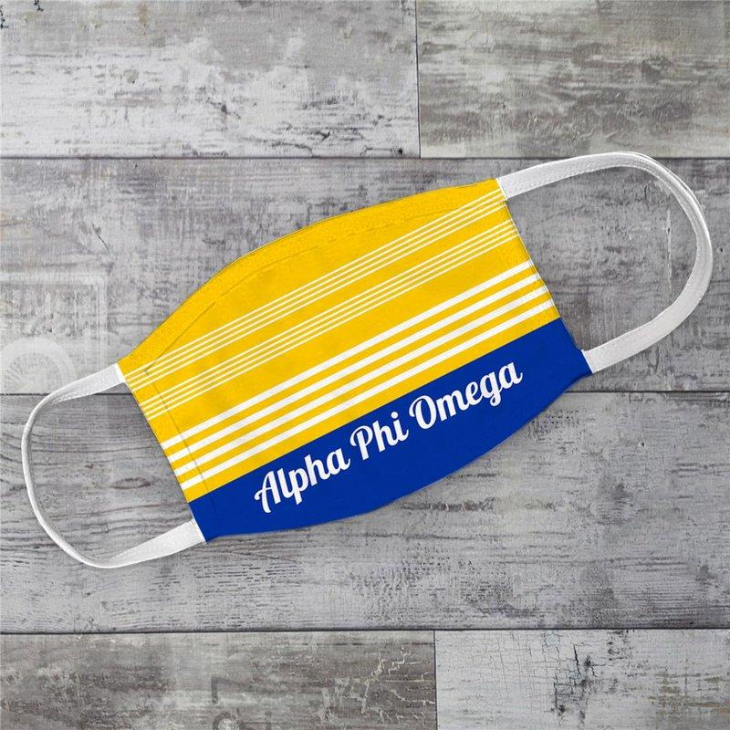 Alpha Phi Omega Two Tone Stripes Face Mask