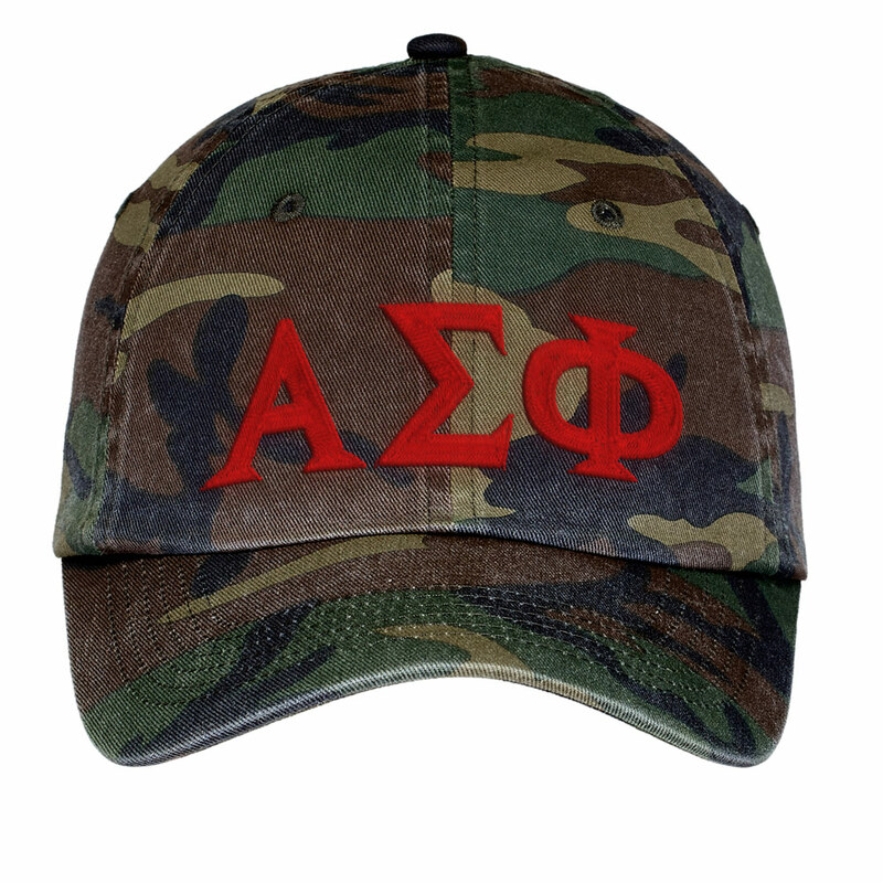 Alpha Sigma Phi Lettered Camouflage Hat