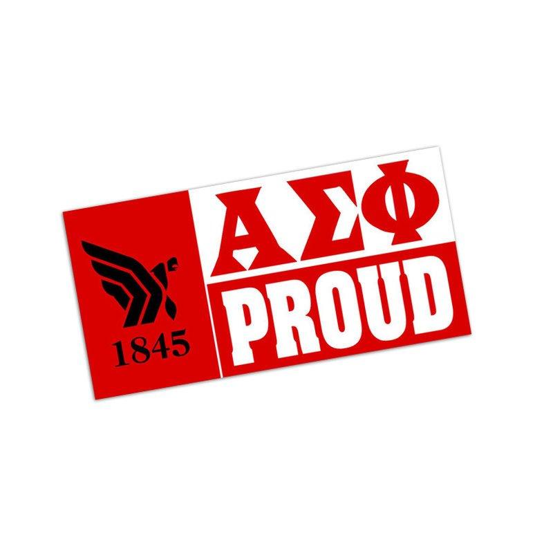 Alpha Sigma Phi Proud Bumper Sticker - CLOSEOUT