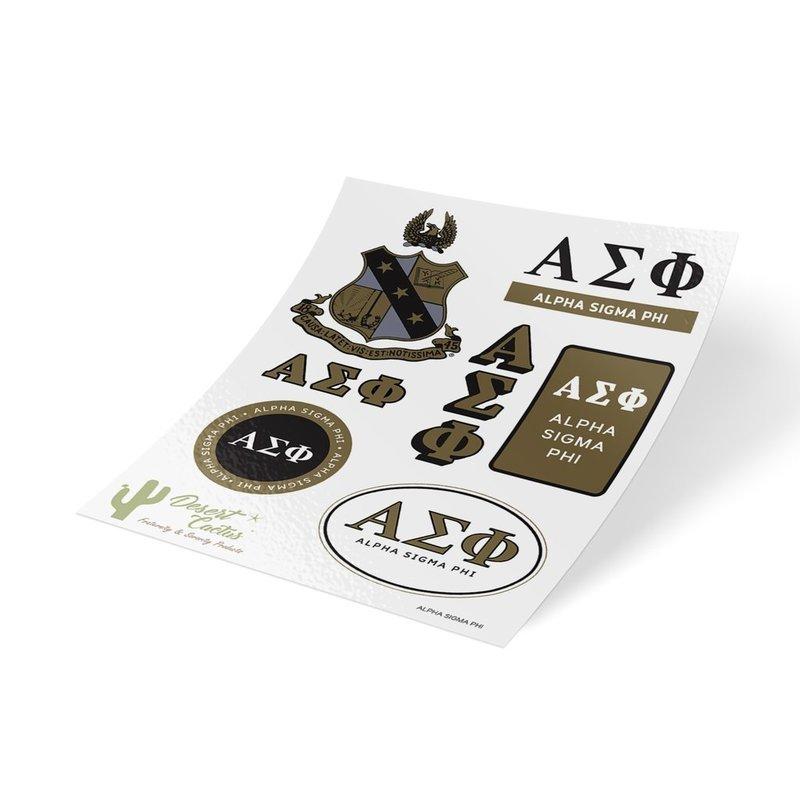 Alpha Sigma Phi Traditional Sticker Sheet