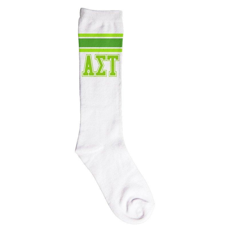 Alpha Sigma Tau Knee High Socks