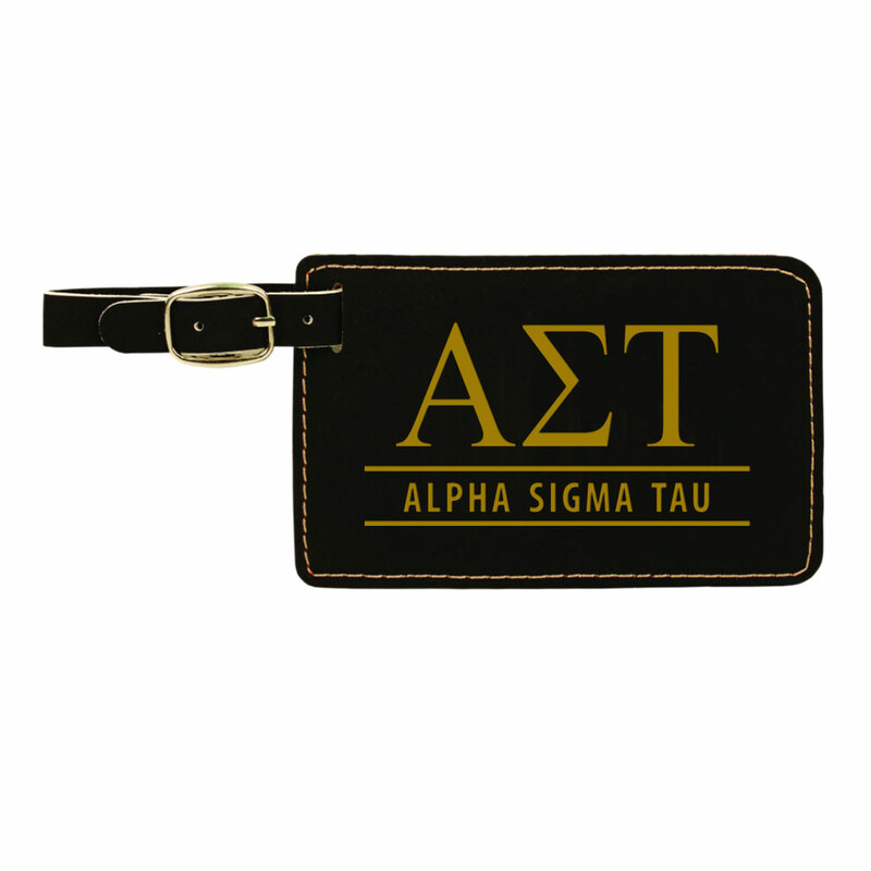 Alpha Sigma Tau Leatherette Luggage Tag